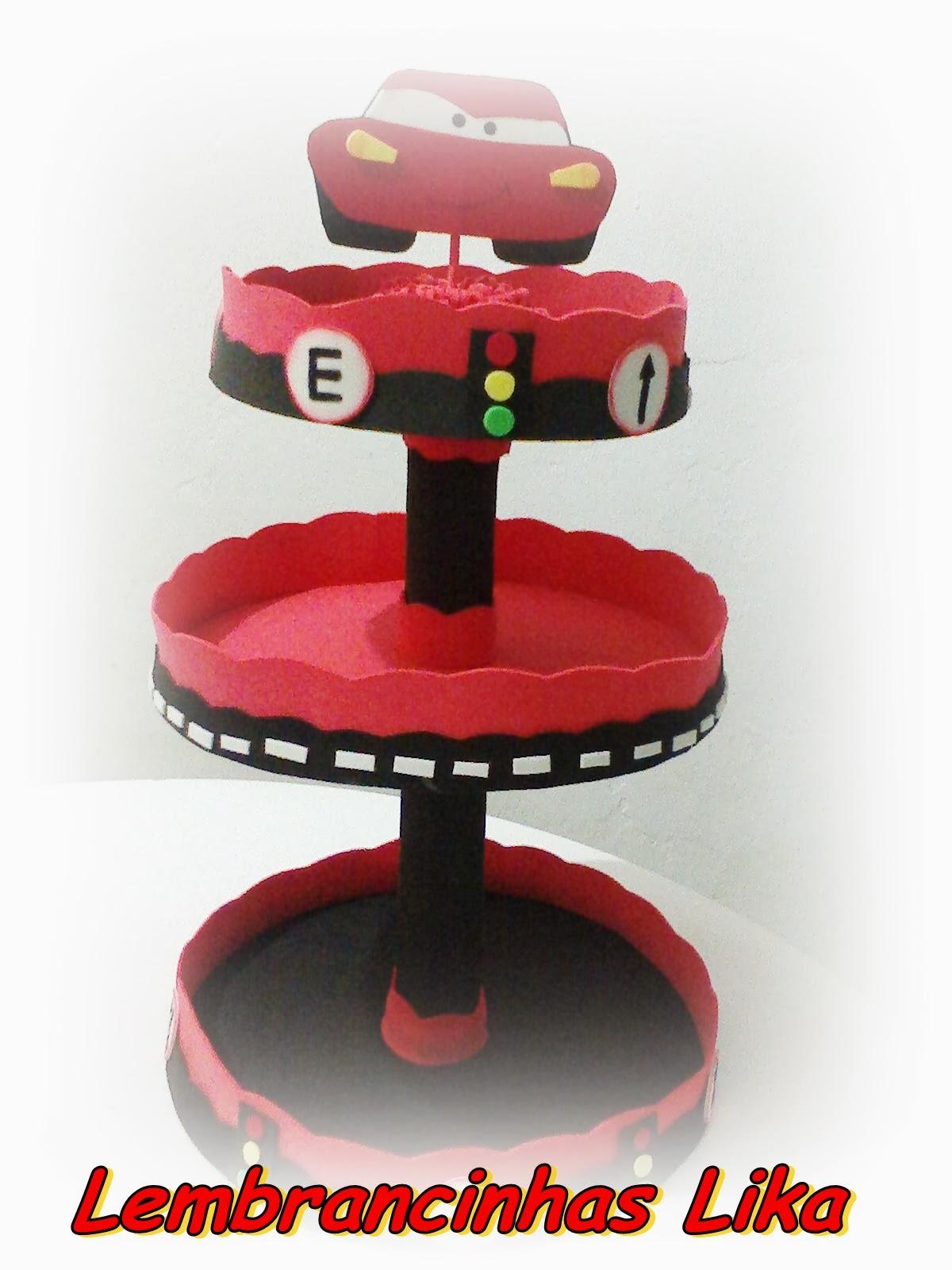 Lika Eventos !: Enfeites de mesa Carros Disney eva