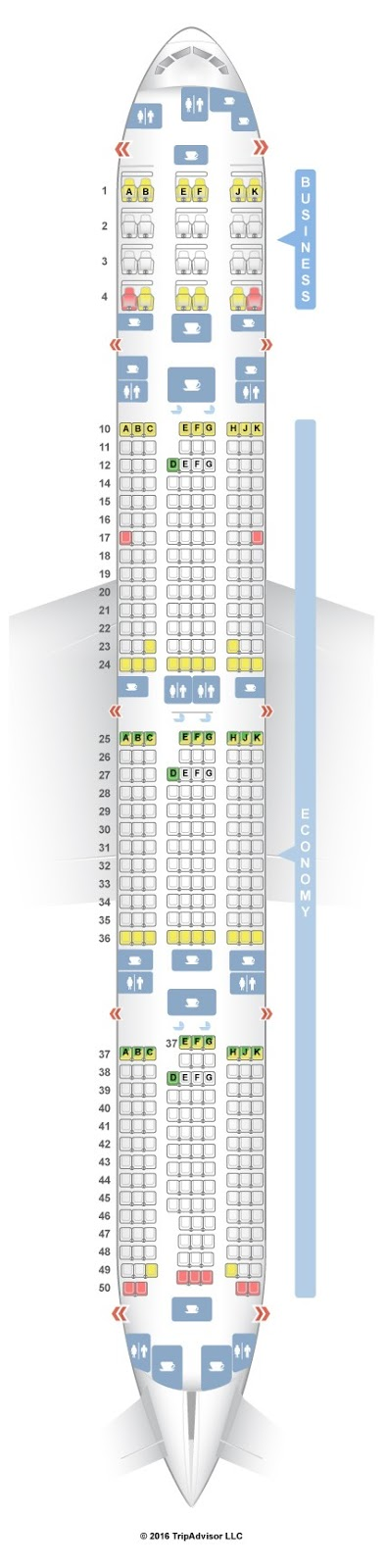 Lovely 777-300er Seat Map - Seat Inspiration
