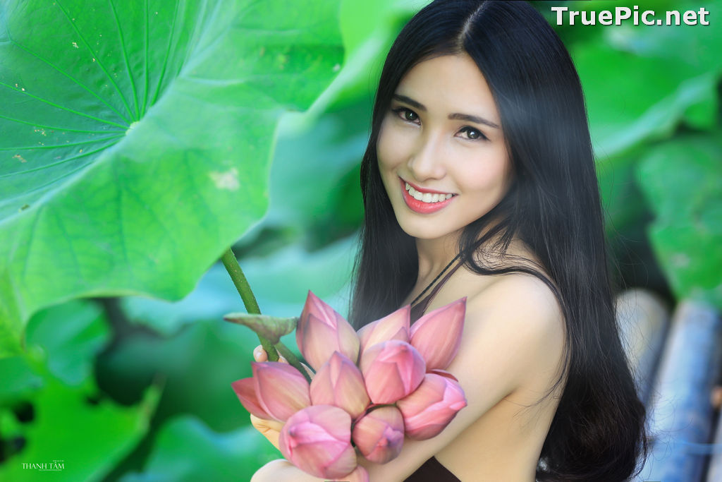 Image Vietnamese Model - Hong Rubyshi - Beauty Girl and Lotus Flower #1 - TruePic.net - Picture-7