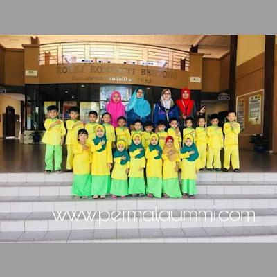 Chef Cilik Taska Nur Hadhinah Menghadiri Kursus Pendek Hokaido Cupcake di Kolej Komuniti Bentong, Pahang