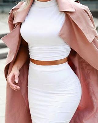 outfit de dos piezas blanco
