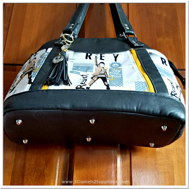 Custom Star Wars-Inspired Handbag | 3 Garnets & 2 Sapphires