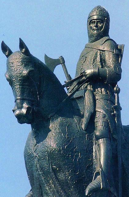 Robert Bruce, herói da Escócia, estátua em Bannockburn