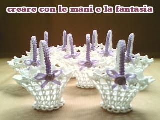 Creare Con Le Mani E La Fantasia Ancora Cestini Ad Uncinetto