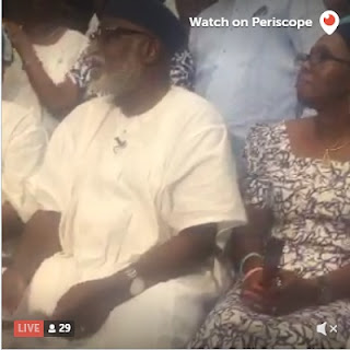 BREAKING: Watch Akeredolu Live On #Periscope Reading His VICTORY SPEECH