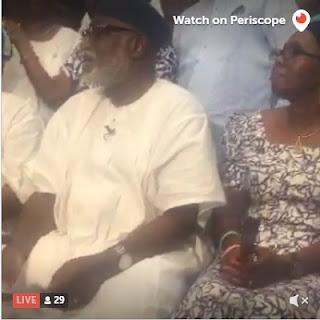 BREAKING: Watch Akeredolu Live On #Periscope Reading His VICTORY SPEECH