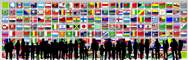 Globalization: Flags of World Nations and People