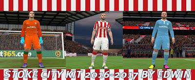 PES 2016 Stoke City kit 2016-2017 by Edwin19