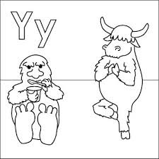 Y For Yeti Alphabet Coloring Sheet