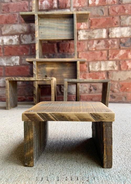 Weathered Wood Riser.