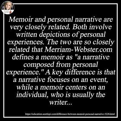 Memoir v. Personal Narrative