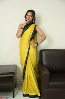 Cute Actress Ashwini in Yellow Saree Exclusive  049.JPG