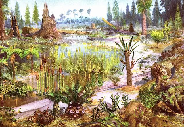 Zdenek Burian, early Earth landscape