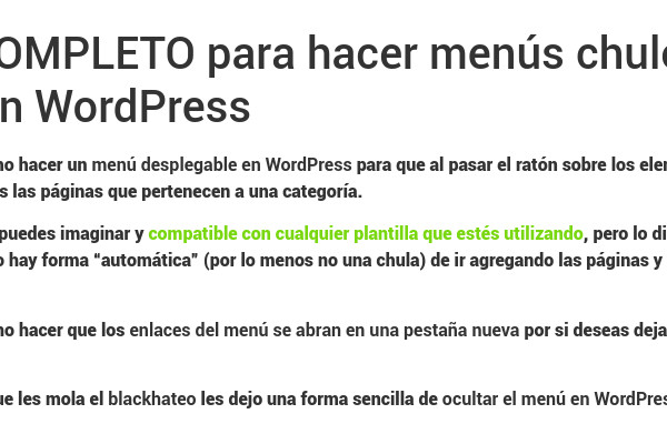 Cambiar color de letra en párrafos de WordPress