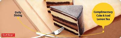 Free Secret Recipe Cake & Ice Lemon Tea Maybank Cards Promo