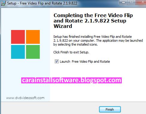 Cara Menginstal Free Video Flip And Rotate