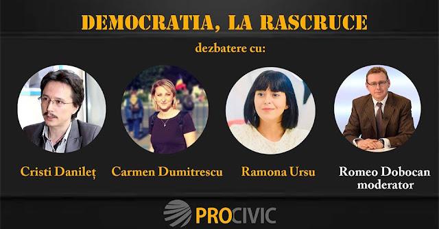 """""""Democraţia, la răscruce"""" : Trei dintre cele mai clare voci  ale #rezistenţei vin în faţa băimărenilor"""