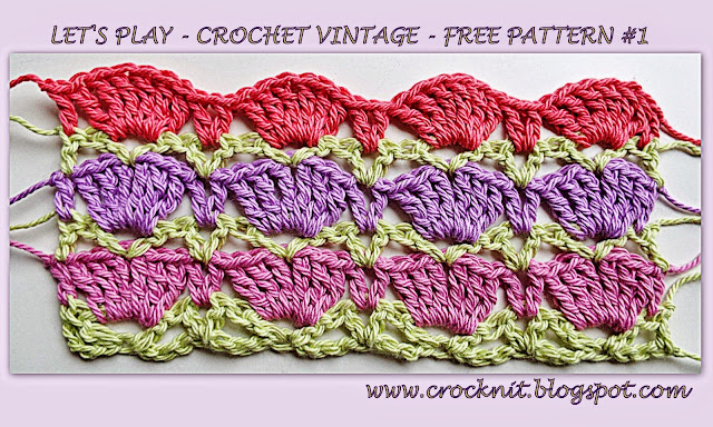 free crochet patterns, vintage, shells, fans