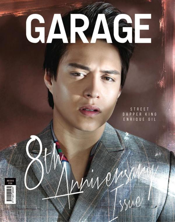 Enrique Gil in Garage magazine August 2016 cover