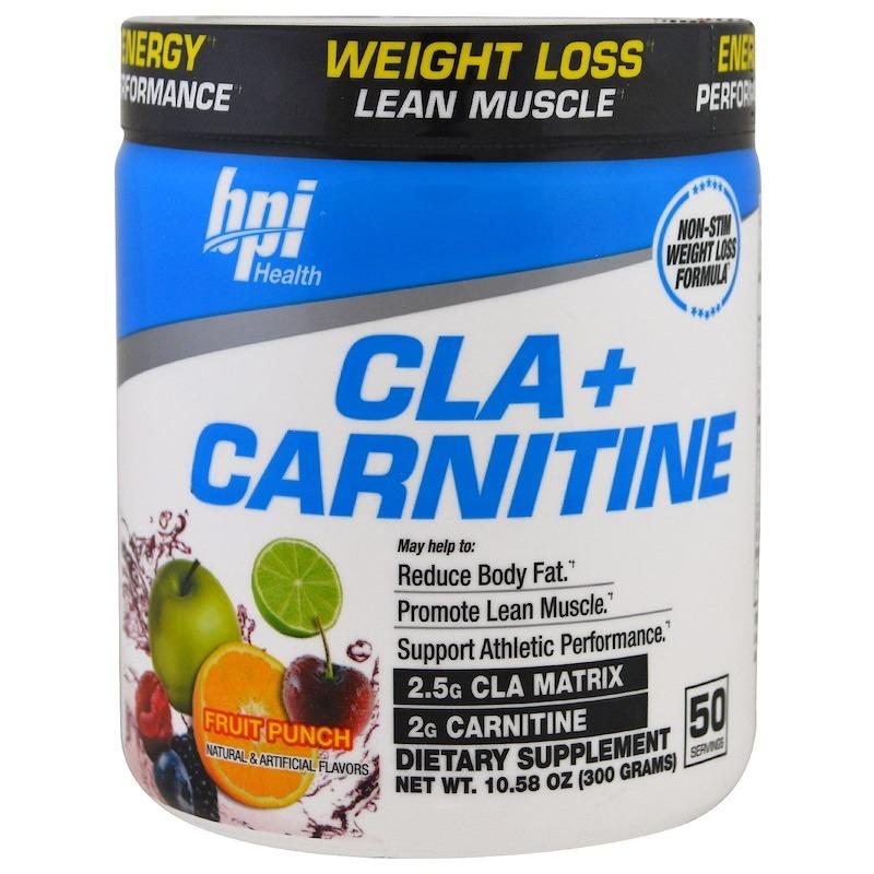 BPI Sports, CLA с карнитином, фруктовый пунш, 300 г (10,58 унции)