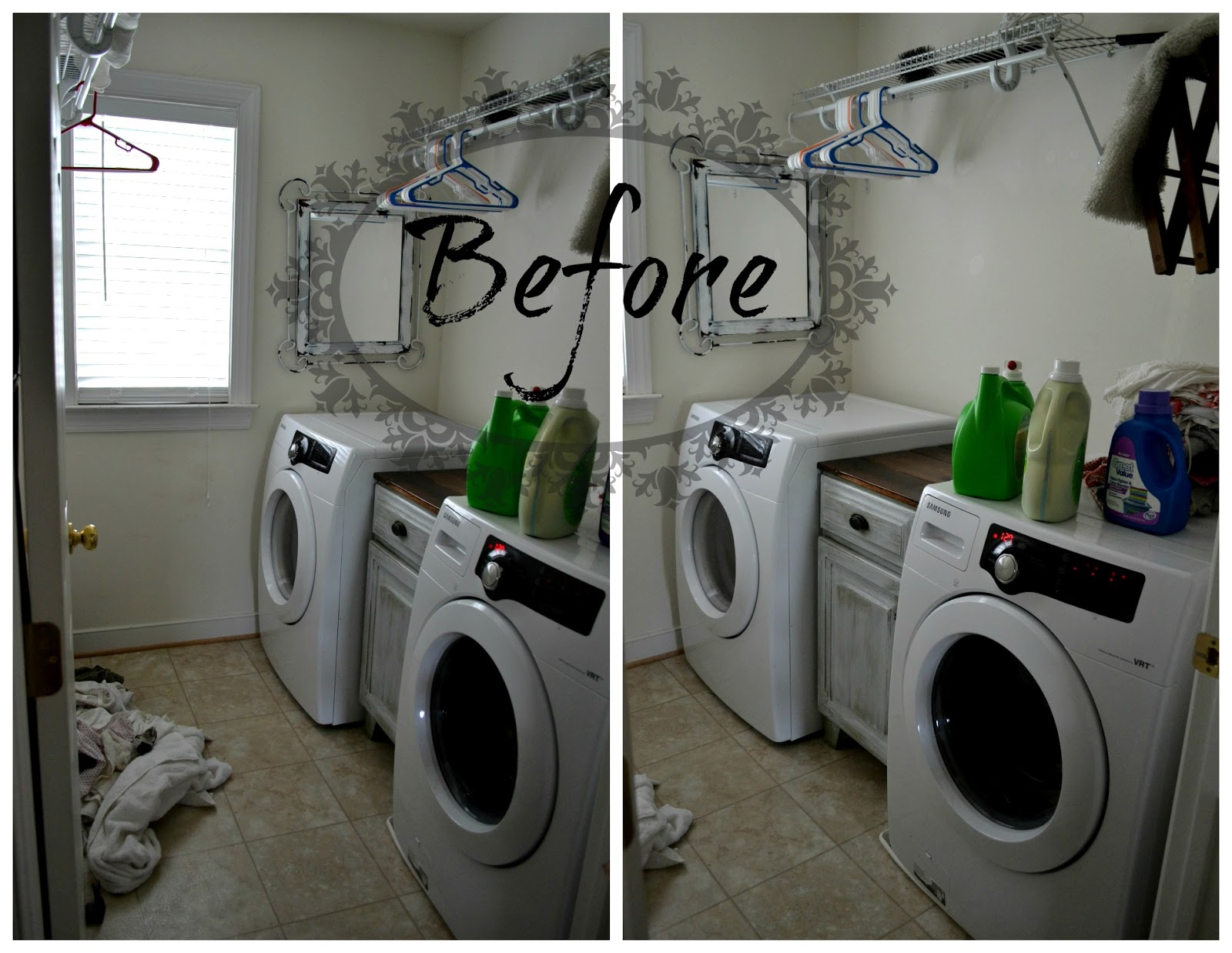 Down to earth style small laundry room making more space - Small space laundry set ...