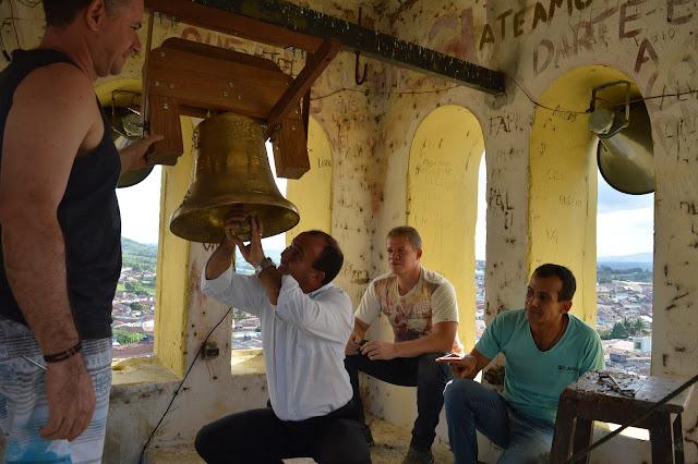 PAROQUIAL: Novo Sino foi instalado na Torre da Matriz de São Joaquim