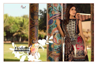 Shree fab Firdous Exclusive Collection vol 3 pakistani Suits