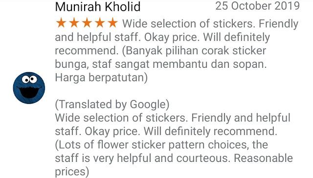 Recommend & feedback borong tudung bawal Artie sticker berlian DMC hotfix