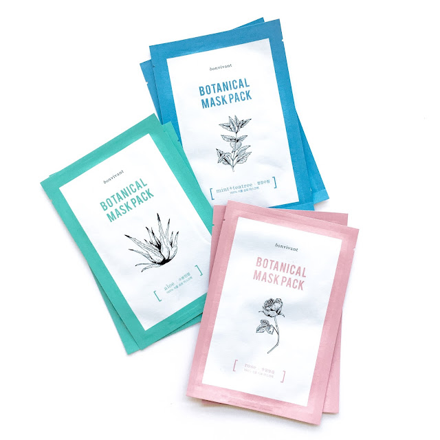 Bon vivant botanical mask pack from memebox review and giveaway