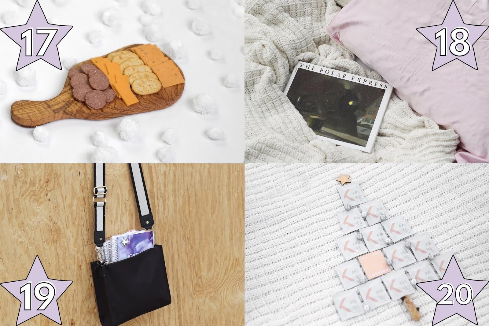 trader's joe olive wood cheese board gift idea, Erin Condren planner tote gift idea for college students, Kerotin silk pillowcase gift idea, affordable silk pillowcase for her, ZitSticka gift idea, college student gift guide ideas