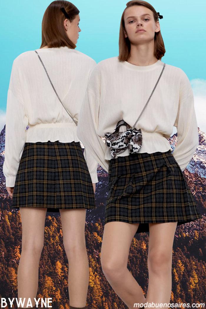 Faldas cortas invierno 2020. Zara otoño invierno 2020. Moda colecciones otoño invierno 2020.