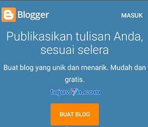 cara membuat blogger di hp android