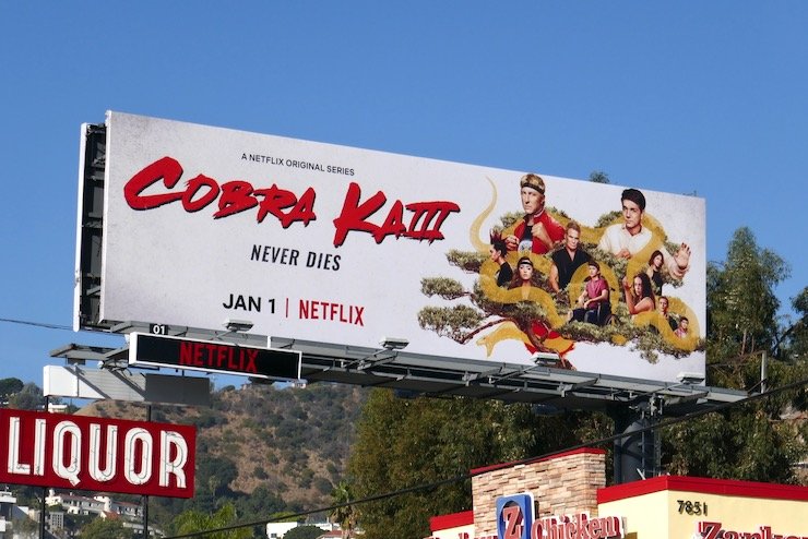 Cobra Kai season 3 billboard