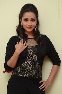 Telugu Actress Manasa Manohar Stills in Black Long Dress at Naku Nene Thopu Turumu Trailer Launch  0055.JPG