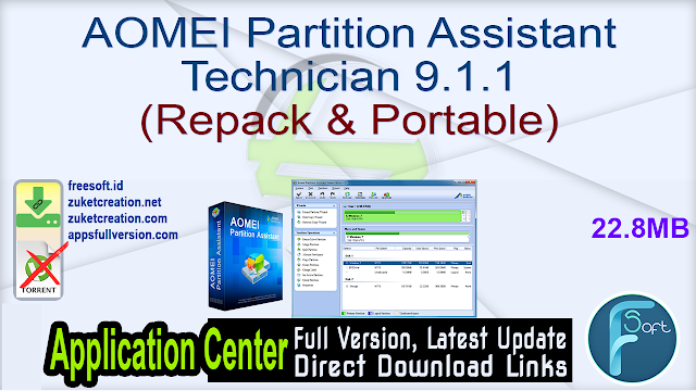 AOMEI Partition Assistant Technician 9.1.1 (Repack & Portable)