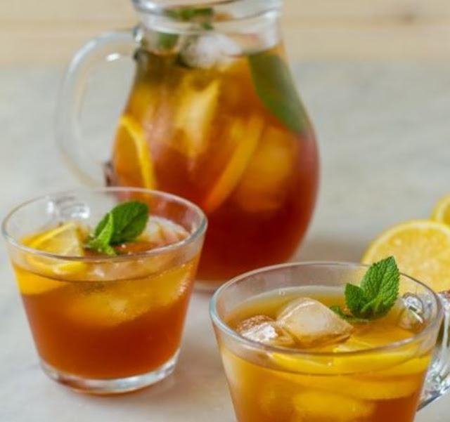 Sweet Lemon Iced Tea #tea #drinks