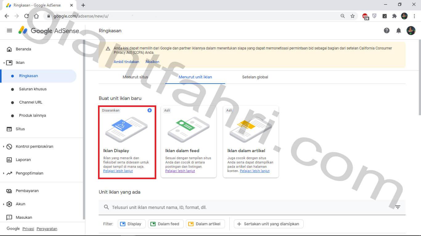 Cara Mudah Membuat Iklan Link Adsense Terbaru 2020