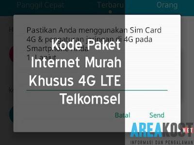 Kode Paket Internet Murah Khusus 4G LTE Telkomsel