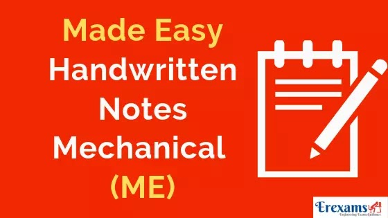 Made Easy Handwritten Notes for Mechanical (ME) Branch Pdf Free Download