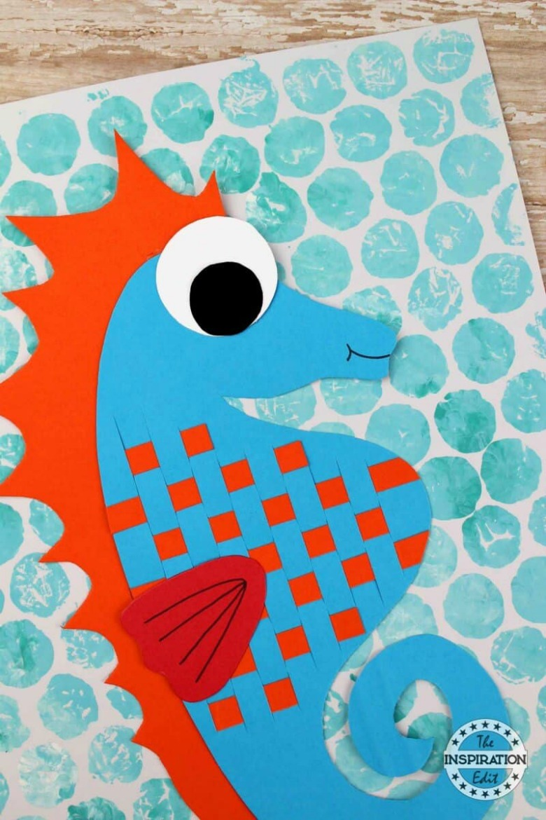 seahorse paper craft for kids