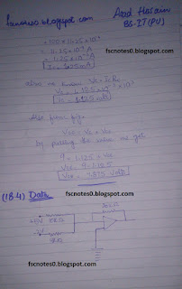 F.Sc ICS Notes: Physics XII: Chapter 18 Electronics Numerical Problems by Asad Hussain 3
