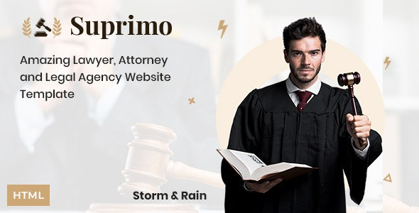Lawyer Attorney Website HTML Template