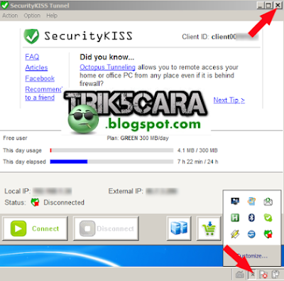 Tutorial Internet Gratis Unlimited VPN Menggunakan Software VPN Security KISS