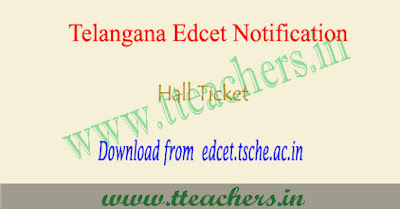 TS Edcet hall ticket 2019 download, Telangana Ed.cet results