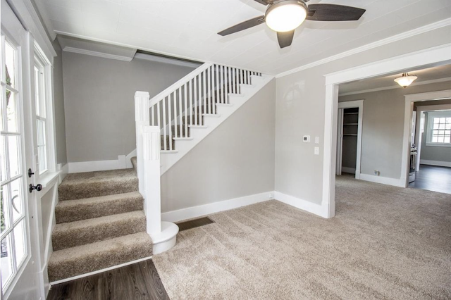 staircase, living room, and dining room of Sears Norwood model • 24 Massie Avenue, Paris, Kentucky