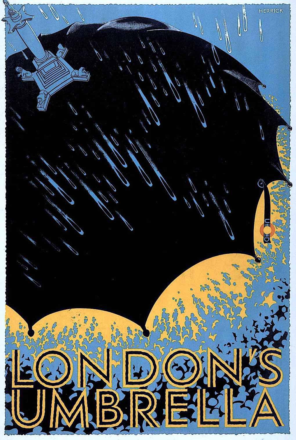 London's Umbrella, a Frederick Herrick 1925 poster for the undergound transit