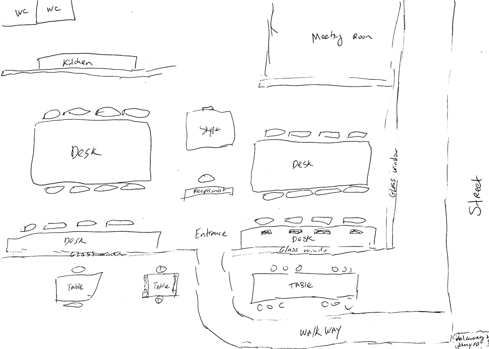An Example Layout I Sketched Out Of What The Perfect Space Would Be