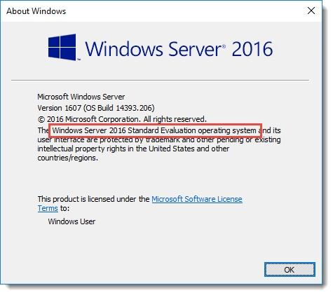 Ativação do Windows Server 2016 via prompt de comando