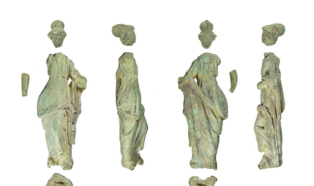Roman Minerva figurine, Bronze Age gold bulla among 'treasures' found by UK detectorists
