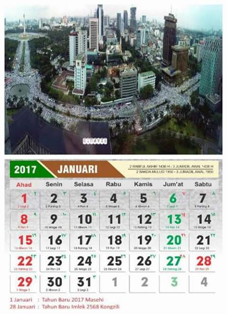 Aplikasi Kalender 2017 Cover Aksi Bela Islam III Lengkap Dengan Cuti Bersama Pemerintah